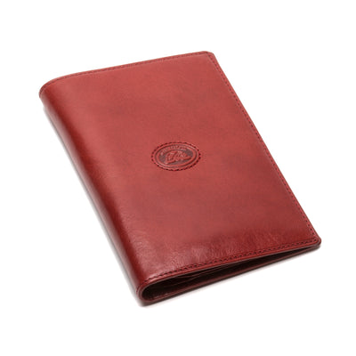 Tony Perotti Unisex Italian Bull Leather Executive Bifold Passport Cover Case in Red