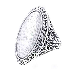Precious Sarda .925 Sterling Silver Hammered Handcrafted Ring - Triple Blessings