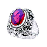 Precious Sarda .925 Sterling Silver Volcanic Quartz Handcraft Ring - Triple Blessings