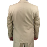 SALE! Sharp Mens 2pc. 2-B Comfortable Stretch Waist Suit - BEIGE - Triple Blessings