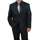 Sharp Mens 2pc. 2-B Comfortable Stretch Waist Suit With 1 Pair Socks - NAVY - Triple Blessings