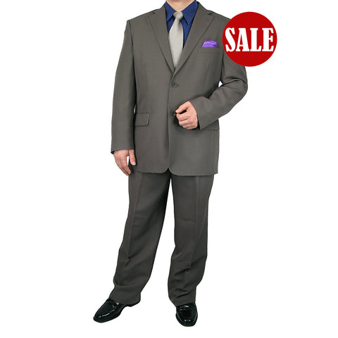 SALE! Stylish 2pc. Men's Regular Fit Dress Suit - CHARCOAL GRAY - Triple Blessings