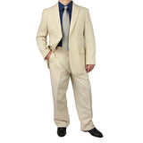 SALE! Stylish 2pc. Men's Regular Fit Dress Suit - BEIGE - Triple Blessings