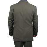 Stylish 2pc. Men's Regular Fit Dress Suit w/ 1 Pair of Socks - GRAY - Triple Blessings