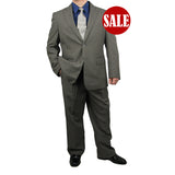 SALE! Stylish 2pc. Men's Regular Fit Dress Suit - GRAY - Triple Blessings