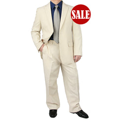 SALE! Stylish 2pc. Men's Regular Fit Dress Suit - IVORY - Triple Blessings