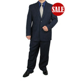 SALE! Stylish 2pc. Men's Regular Fit Dress Suit - NAVY - Triple Blessings