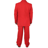 Stylish 2pc. Men's Regular Fit Dress Suit w/ 1 Pair of Socks - RED - Triple Blessings