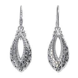 Precious Sarda 925 Sterling Silver Gives You Hope Wire Handcraft Earrings - Triple Blessings