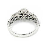 Precious Sarda .925 Sterling Silver Kynite Birthstone Handcrafted Ring - Triple Blessings