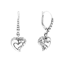 Precious Sarda 925 Sterling Silver Hope-n-Future Charm French Wire Earrings - Triple Blessings