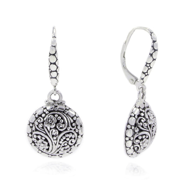 Precious Sarda 925 Sterling Silver Good Shepherd II French Wire Dangle Earrings - Triple Blessings