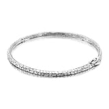 Precious Sarda .925 Sterling Silver Watermark Bangle Bracelet - Triple Blessings