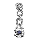 Precious Sarda .925 Sterling Silver Tanzanite Handcrafted Pendant - Triple Blessings