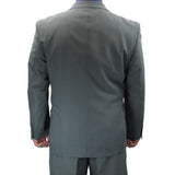Sharp Hand Tailored 2pc Men Double Breasted Dress Suit w/1 Pair of Socks - GRAY - Triple Blessings