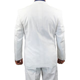 SALE! Sharp Hand Tailored Mens 2pc. 2 Button Linen Blend Suit - WHITE - Triple Blessings