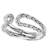 Precious Sarda 925 Sterling Silver We have Confidence Hindged Cuff Bracelet - Triple Blessings