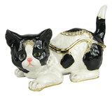 Lovely Rucinni American Shorthair Swarovski Crystal Trinket Jewelry Box - Triple Blessings