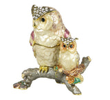 Lovely Owl/baby Swarovski Crystal Trinket Jewelry Box - Triple Blessings