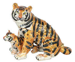 Lovely Rucinni Detachable Tiger/Cub Swarovski Crystal Trinket Box - Triple Blessings