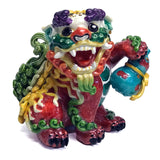 Lovely Rucinni Chinese Palace Lion Guardian Trinket Box - Multicolors