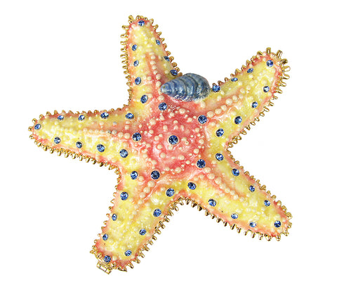 Lovely Rucinni Starfish Swarovski Crystal Trinket Box - Triple Blessings