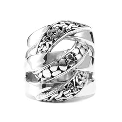 Precious Sarda .925 Sterling Silver Gives You Hope Handcrafted Ring - Triple Blessings