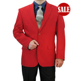 SALE! Sharp Hand-Tailored Men's Single Breasted 2-Button Dress Blazer - RED - Triple Blessings