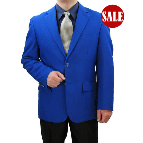 SALE! Sharp Hand-Tailored Men's Single Breasted 2-Button Dress Blazer - ROYAL - Triple Blessings