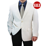 SALE! Sharp Hand-Tailored Men's Single Breasted 2-Button Dress Blazer - WHITE - Triple Blessings