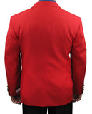 SALE! Men's Red Classic Fit Single Breasted 2-Button Blazer - RED - Triple Blessings