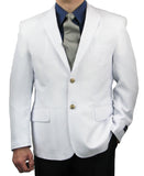 SALE! Men's White Classic Fit Single Breasted 2-Button Blazer - WHITE - Triple Blessings