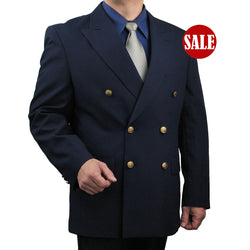 SALE! Men's Navy Classic Fit Double Breasted 6-Button Blazer - NAVY - Triple Blessings