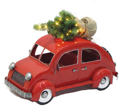 Holiday Red Beetle Bug Car with LED Christmas Tree - Triple Blessings