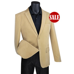 SALE! Sharp Men's Luxurious Modern Fit Corduroy Jacket - KHAKI - Triple Blessings