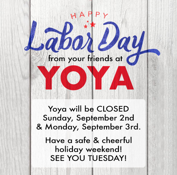 Store News: Labor Day Weekend Hours