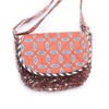 louise misha nomade bag, rose sequins