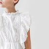petite amalie embroidered ruffle dress