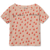 yoya kids bobo choses apples short sleeve t-shirt spring summer casual round neckline