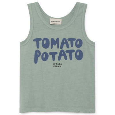 yoya kids bobo choses tomato potato linen tank top round neckline childrens casual lounge summer