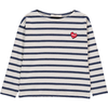 hundred pieces striped heart t-shirt