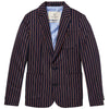 scotch shrunk yarn dyed stripe blazer