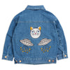 mini rodini space cat denim jacket