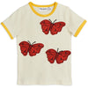 yoya, kids, girls, mini rodini, summer, casual, butterfly, tshirt