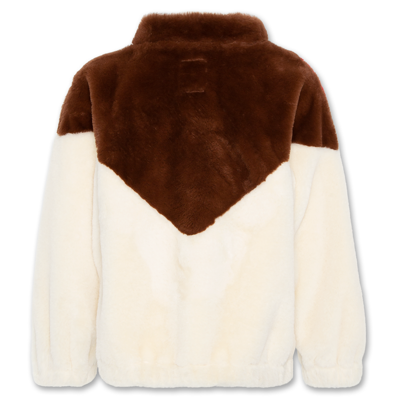 AO76 mock neck fur sweatshirt