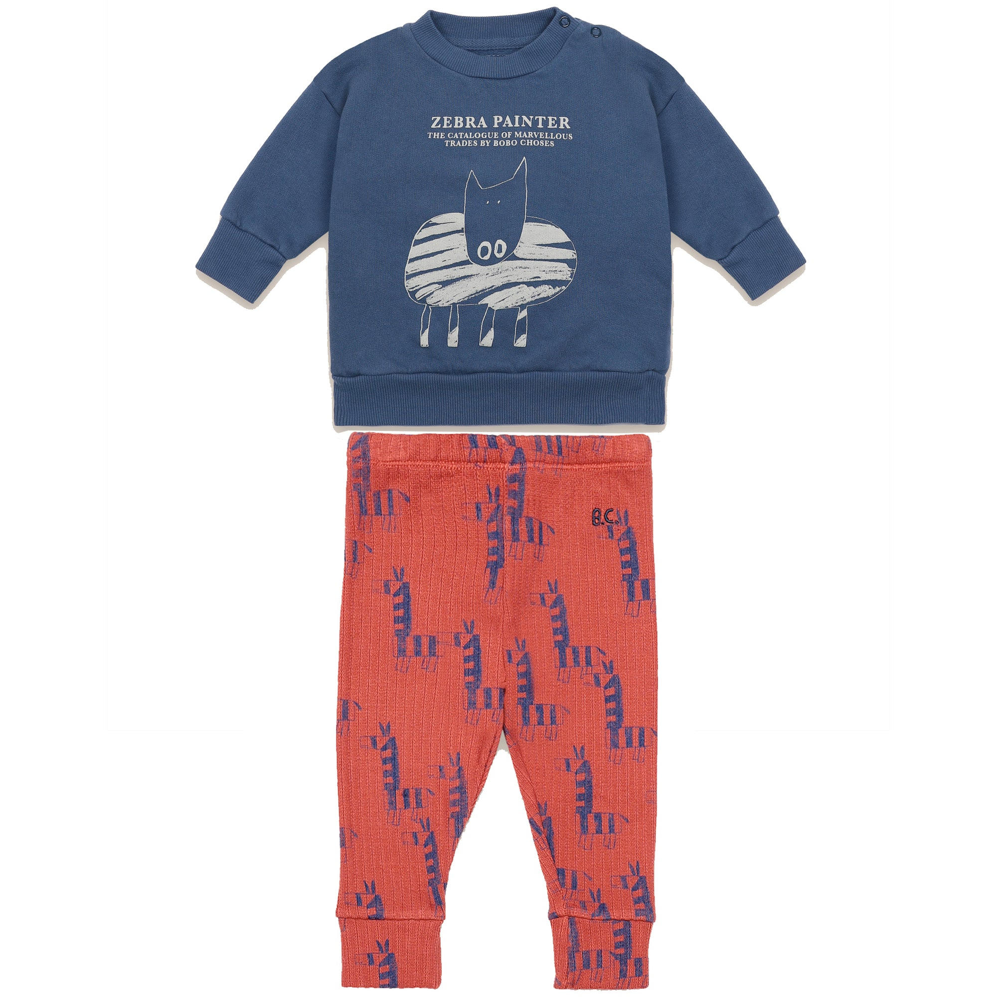 bobo choses zebra painter pajamas