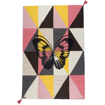 harlequin butterfly/pink