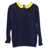 leoca cashmere pullover with collar