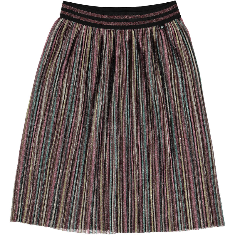 yoya, kids, girls, molo, summer, lightweight, knife pleat, midi skirt
