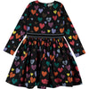yoya, kids, girls, molo, summer, lightweight, long sleeved, graphic printed, fit and flare, full skirted, dress